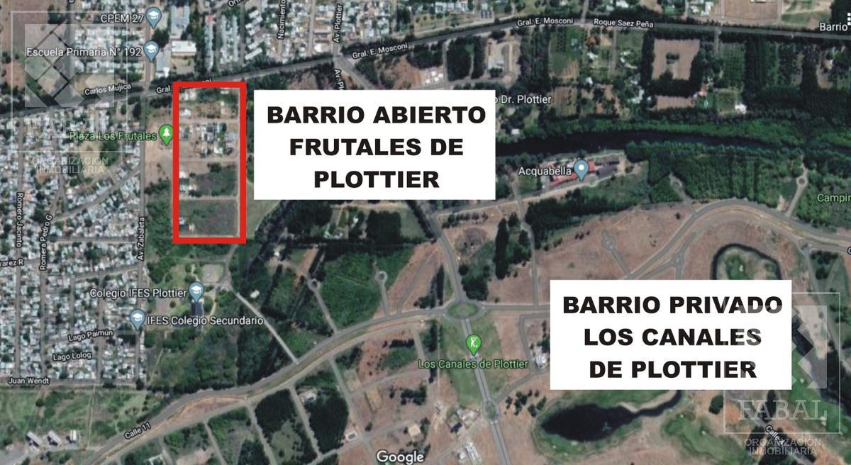 Foto Terreno en Venta en  Plottier,  Confluencia  Av. Gral. E. Mosconi - Barrio Los Frutales