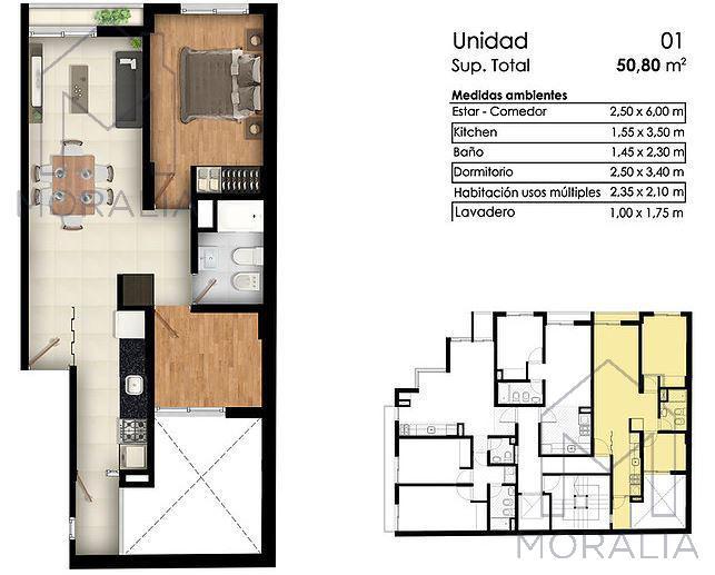 Foto Departamento en Venta en  República de la Sexta,  Rosario  1° de mayo 2100 - 01-01 dos dormitorios