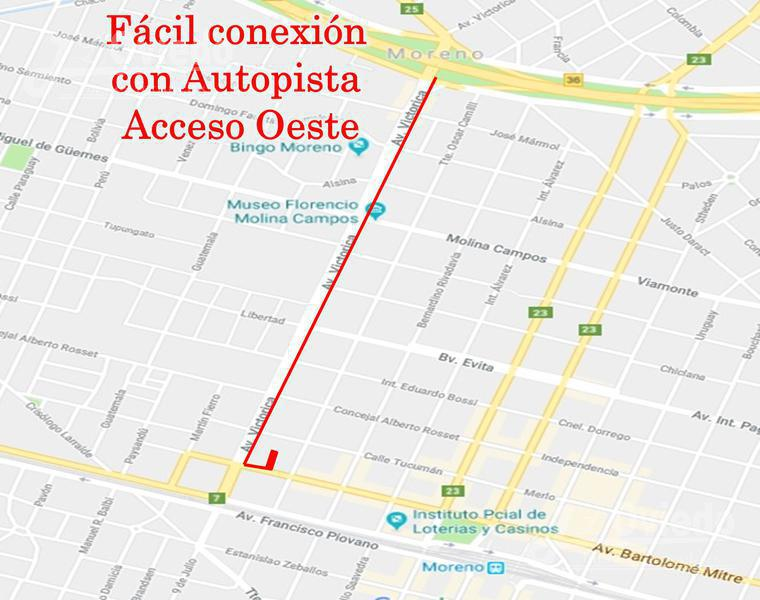 Foto Terreno en Venta en  Moreno ,  G.B.A. Zona Oeste  Calle Mitre entre AV. Victorica y Tte Oscar Camilli