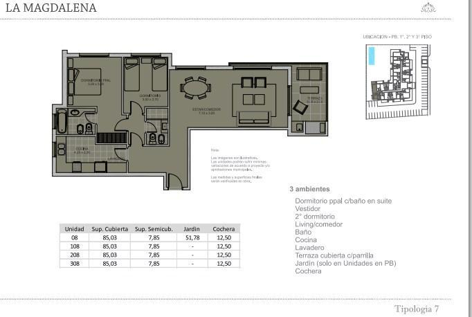 Departamento-Venta-Manuel Alberti-Town houses -La Magdalena