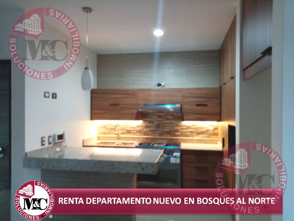 Foto Departamento en Renta en  Fraccionamiento Los Bosques,  Aguascalientes   RENTA DEPARTAMENTO NUEVO EN BOSQUES