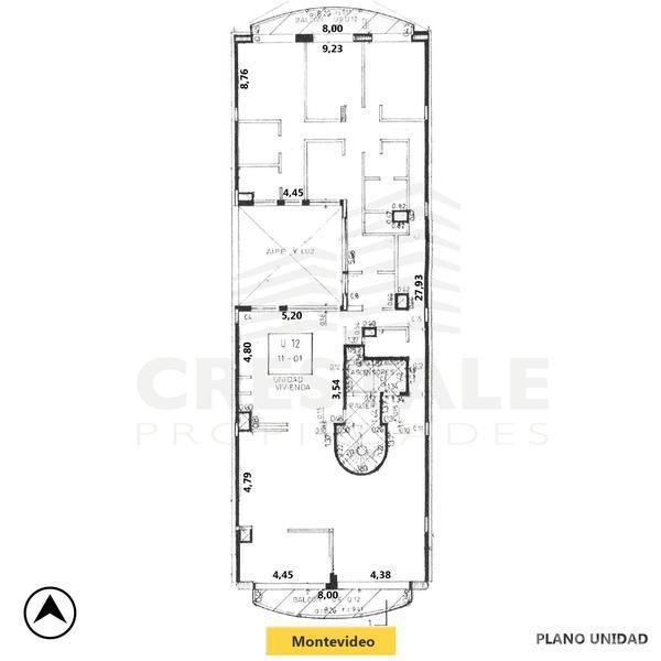 Venta departamento 3+ dormitorios Rosario, zona Centro. Cod 4172. Crestale Propiedades