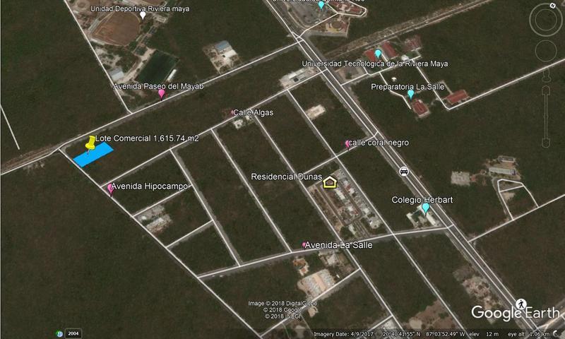 Foto Terreno en Venta en  Solidaridad ,  Quintana Roo  Lotes comerciales cerca de Av Paseo del Mayab Playa del Carmen C2520
