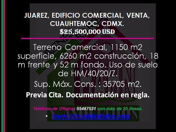 Foto Edificio Comercial en Venta en  Juárez,  Cuauhtémoc  JUAREZ, EDIFICIO COMERCIAL, VENTA, CUAUHTEMOC, CDMX.