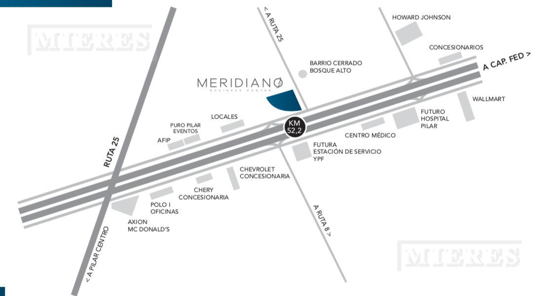 Mieres Propiedades - Oficina en Meridiano Buisness Center  - Pilar