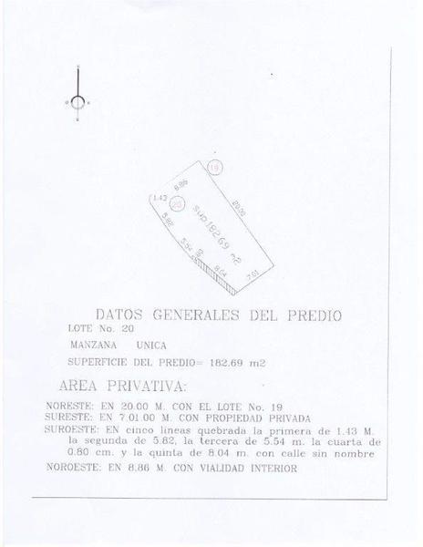 Foto Terreno en Venta en  Fraccionamiento Paraíso Coatzacoalcos,  Coatzacoalcos  Lote 20, Manzana F, Calle Palma Samia, Fraccionamiento Real de Palmas.