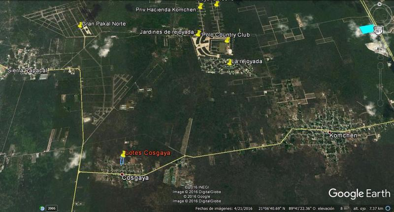 Cosgaya se encuentra a 26 kilómetros del centro de la ciudad de Mérida, al poniente de la autopista que conduce de Mérida al puerto de Progreso.
