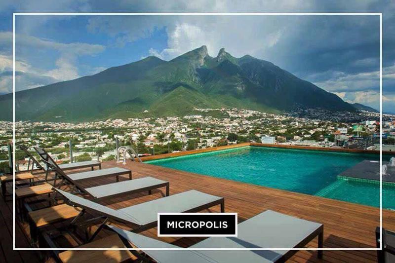 Foto Departamento en Venta en  Contry,  Monterrey  DEPARTAMENTO AMUEBLADO EN VENTA EN MICROPOLIS, MONTERREY