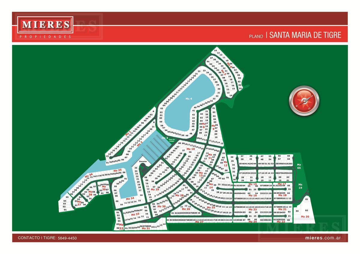 Santa Maria de Tigre  - Terreno en venta - cancha de tenis
