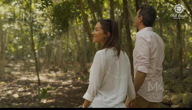 Foto Terreno en Venta en  Lázaro Cárdenas,  José María Morelos  Terreno en venta en Puerto Morelos Cenote Habitat 800 M2. Ruta De Los Cenotes