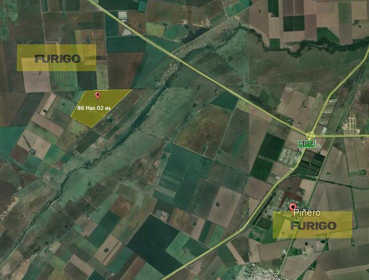 Foto Campo en Venta en  Zavalla,  Rosario  a 1.300 mts de Ruta A012  86,02ha