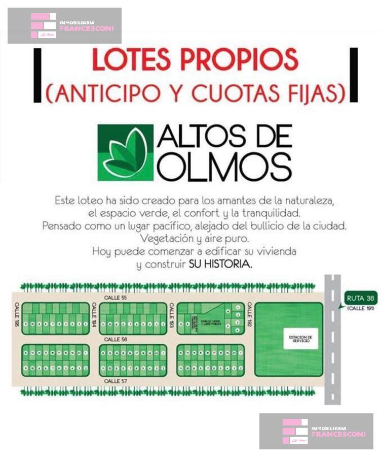 Foto Terreno en Venta en  Lisandro Olmos Etcheverry,  La Plata  192 55 y 57