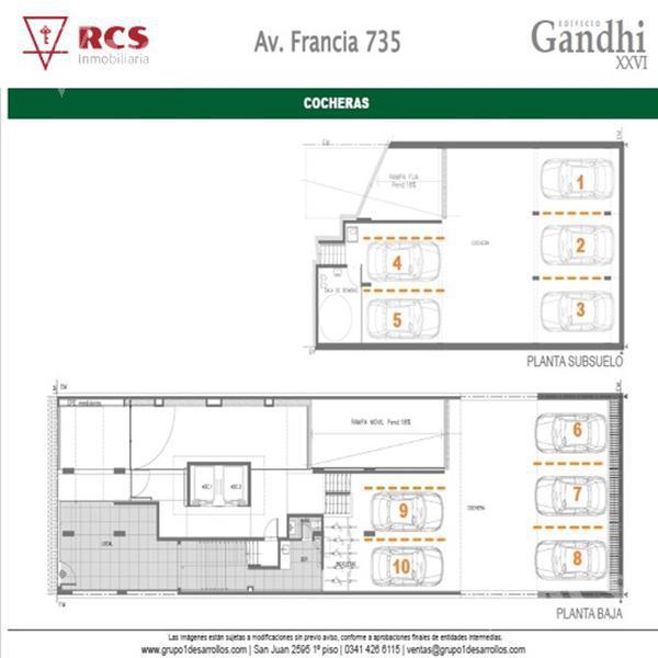 Foto Departamento en Venta en  Lourdes,  Rosario  Deptos 1 Dormit  - Av Francia 700