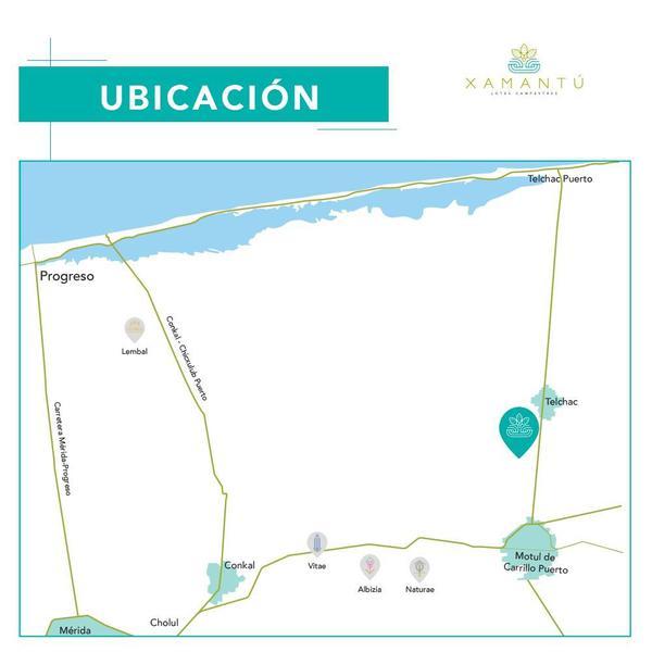 Foto Terreno en Venta en  Pueblo Telchac,  Telchac Pueblo          Lotes de inversión sobre carretera Motul-Telchac Xamantú