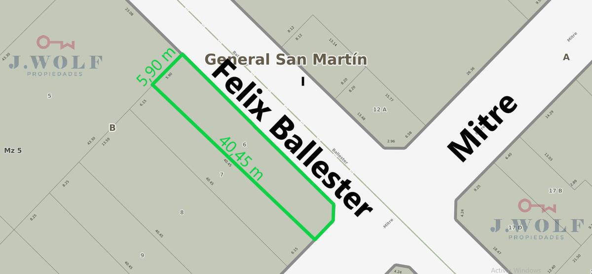 Foto Terreno en Venta en  S.Martin(Ctro),  General San Martin  mitre y felix ballester