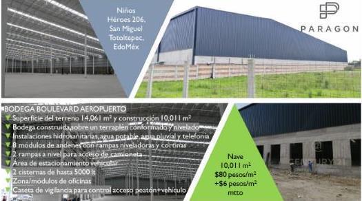 Foto Nave Industrial en Renta en  San Pedro Totoltepec,  Toluca  RENTA NAVE INDUSTRIAL EN SAN PEDRO TOTOLTEPEC