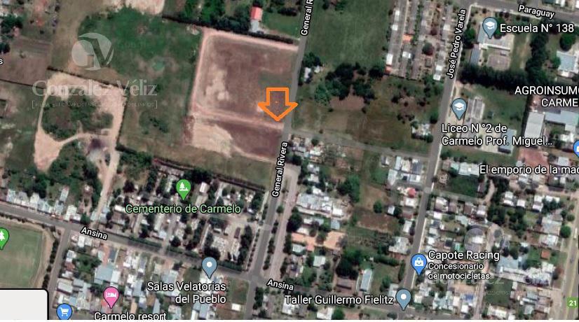 Foto Terreno en Venta en  Carmelo ,  Colonia  Rivera entre Avda Paraguay y Avda Ansina