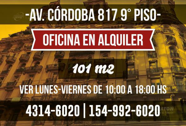 Foto Oficina en Alquiler en  Retiro,  Centro (Capital Federal)  Av. Córdoba al 800