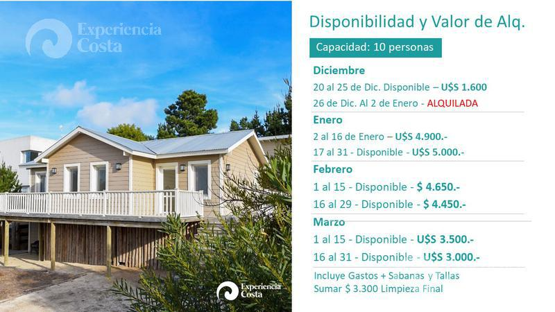 Foto Casa en Alquiler temporario en  Barrio Costa Esmeralda,  Pinamar  Golf I - Lote al 200