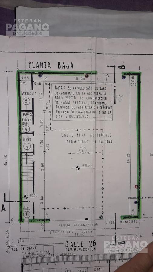 Foto Local en Venta en  La Plata ,  G.B.A. Zona Sur  28 e 70 Y  DIAG 74 N° 1831