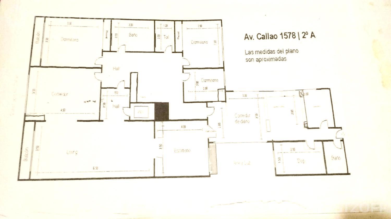 Departamento-Venta-Recoleta-Callao al 1500 e/ Vicente Lopez y Las Heras