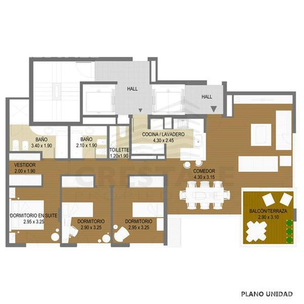Venta departamento 3+ dormitorios Rosario, zona Puerto Norte. Cod CAP649666. Crestale Propiedades