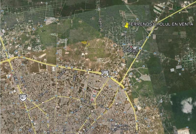Foto Terreno en Venta en  Pueblo Cholul,  Mérida  Terreno Residencial en Cholul de 13,195 m2 en Venta