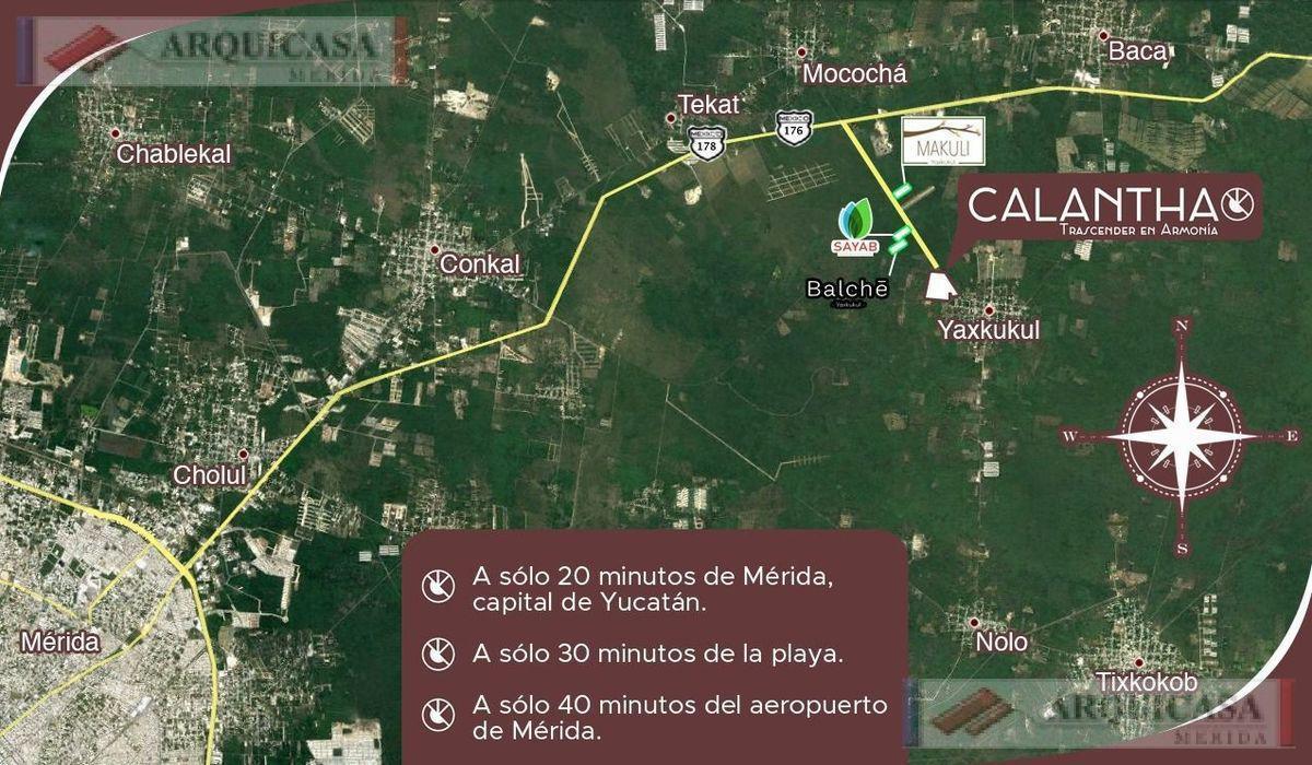 Foto Terreno en Venta en  Yaxkukul ,  Yucatán  CALANTHA VENTA LOTES CAMPESTRES A 15 MINUTOS DE ALTABRISA
