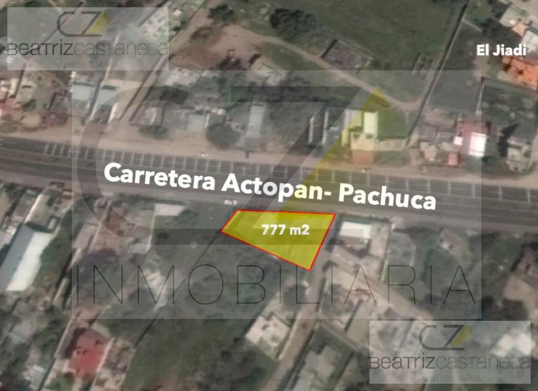 Foto Terreno en Venta | Renta en  El Arenal ,  Hidalgo  TERRENO CON CONSTRUCCIÓN SOBRE CARRETERA ACTOPAN-PACHUCA, EL JIADI