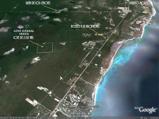 Foto Terreno en Venta en  Solidaridad,  Playa del Carmen  110 Hectareas en Venta Riviera Maya
