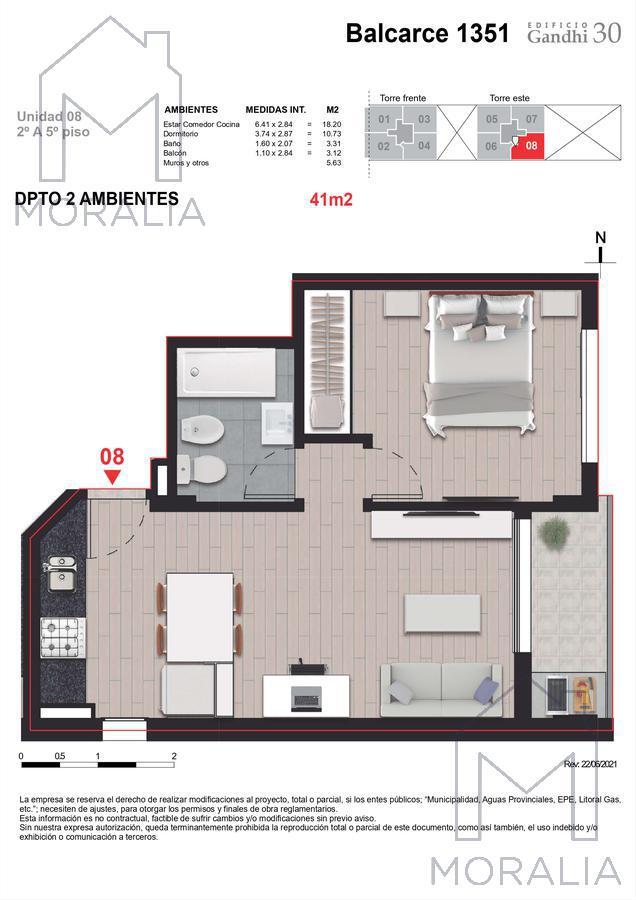 Foto Departamento en Venta en  Centro,  Rosario  Balcarce 1351 - 03 - 08 - 1 dormitorio