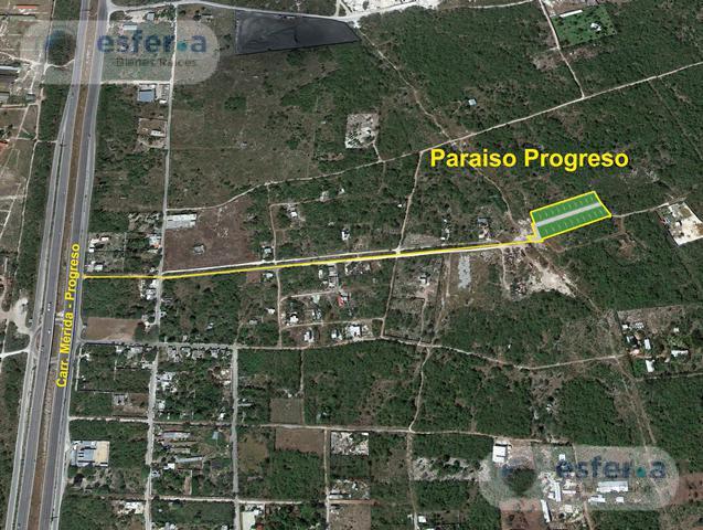 Foto Terreno en Venta en  Progreso ,  Yucatán  Lotes de inversión 200 m2 Paraíso Progreso
