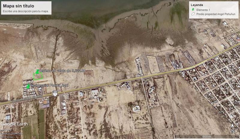 Foto Terreno en Venta en  Chametla,  La Paz  TERRENO PUERTA AZUL