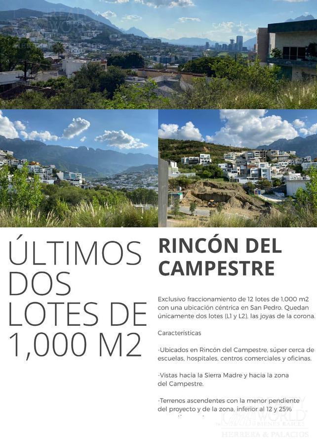 Foto Terreno en Venta en  Rincón del Campestre,  San Pedro Garza Garcia  Terreno en Venta Rincón del Campestre