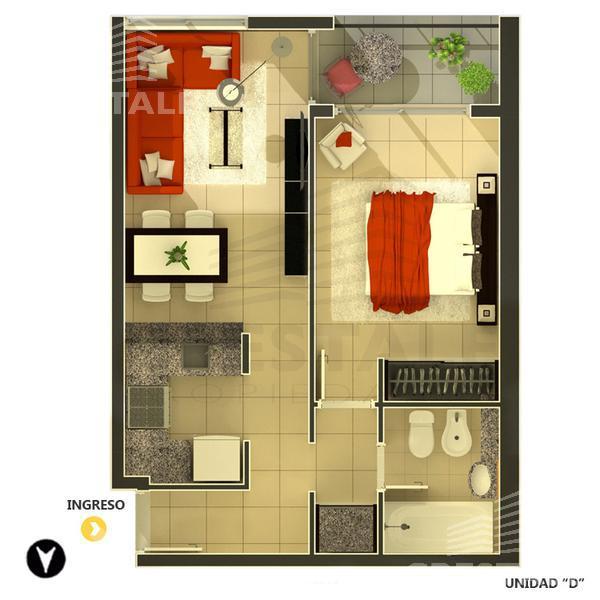 Venta departamento 1 dormitorio Rosario, zona Centro. Cod 2889. Crestale Propiedades