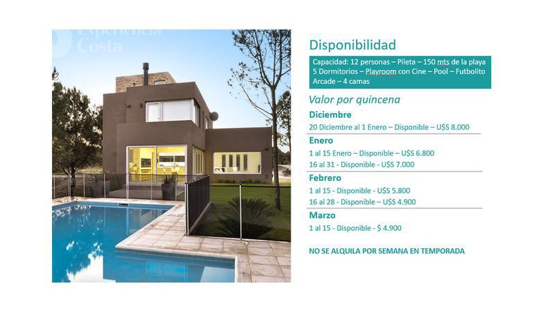 Foto Casa en Alquiler temporario en  Barrio Costa Esmeralda,  Pinamar  La Revoltosa - Marítimo II - Lote 27