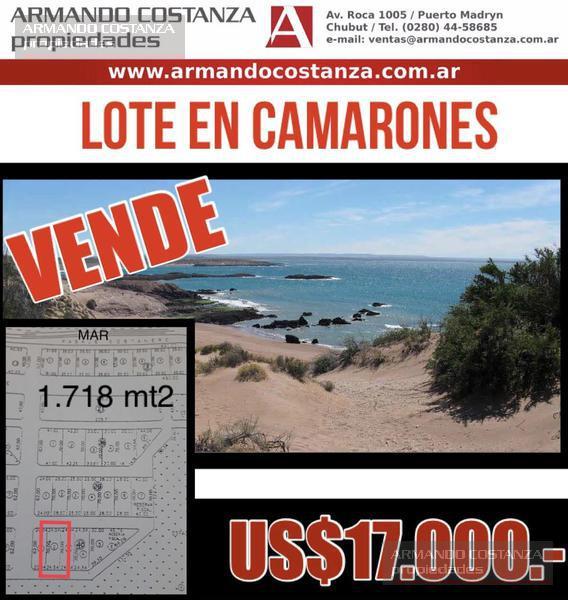 Foto Terreno en Venta |  en  Camarones,  Florentino Ameghino  CAMARONES