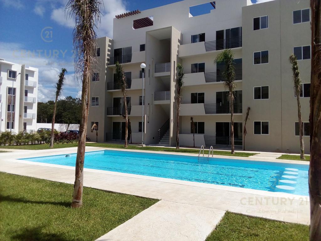Foto Departamento en Renta en  Los Olivos,  Solidaridad  Se renta espectacular departamento 3 hab  amueblado, P.B., Paseo de los Olivos, Playa del Carmen  P3188