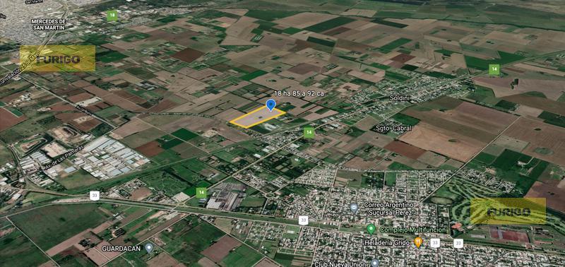 Foto Campo en Venta en  Perez ,  Santa Fe  Zona Rural, sobre camino límite de municipio, a al 600