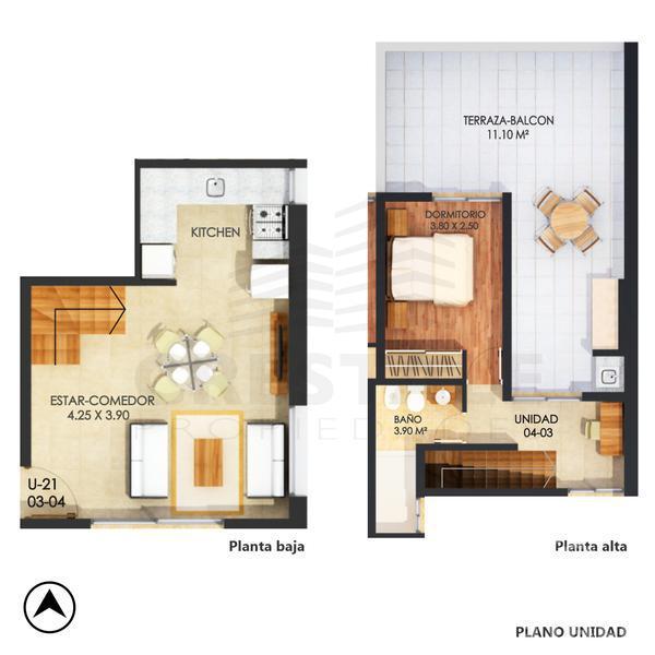 Venta departamento 1 dormitorio Rosario, zona Pichincha. Cod CBU7840 AP744121. Crestale Propiedades