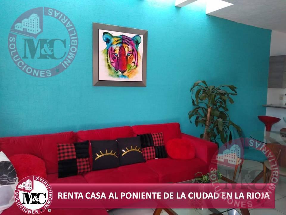 Foto Casa en Renta en  Fraccionamiento La Rioja,  Aguascalientes  MC RENTA CASA AL PONIENTE DE LA CIUDAD EN LA RIOJA