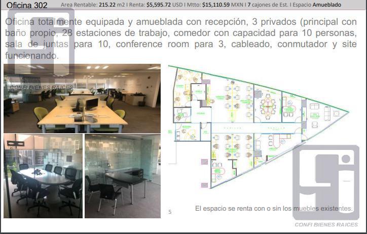 Foto Oficina en Renta en  Lomas de Chapultepec,  Miguel Hidalgo  Ofnas . Renta Lomas de Chapultepec