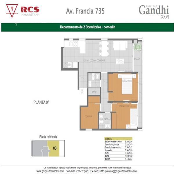 Foto Departamento en Venta en  Lourdes,  Rosario  Deptos 2 Dormit - Av Francia 700