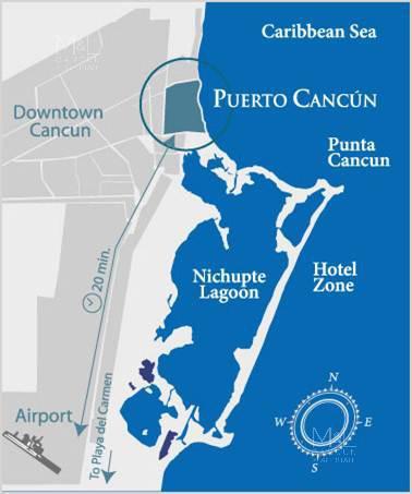 Foto Departamento en Venta en  Puerto Cancún,  Cancún  Departamentos en Venta en Cancún, Blume Boutique Condos. Garden 2 recámaras, Puerto Cancún