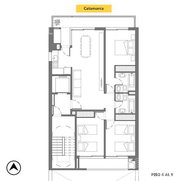 Venta departamento 3+ dormitorios Rosario, zona Centro. Cod CBU12072 AP1161732. Crestale Propiedades