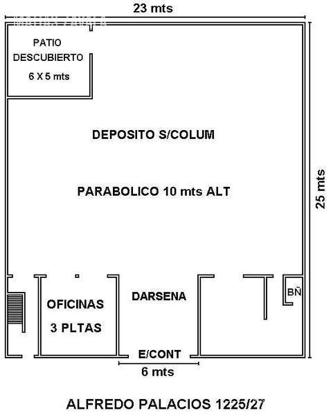 Foto Galpón en Alquiler en  Barracas ,  Capital Federal  Alfredo Palacios al 1200