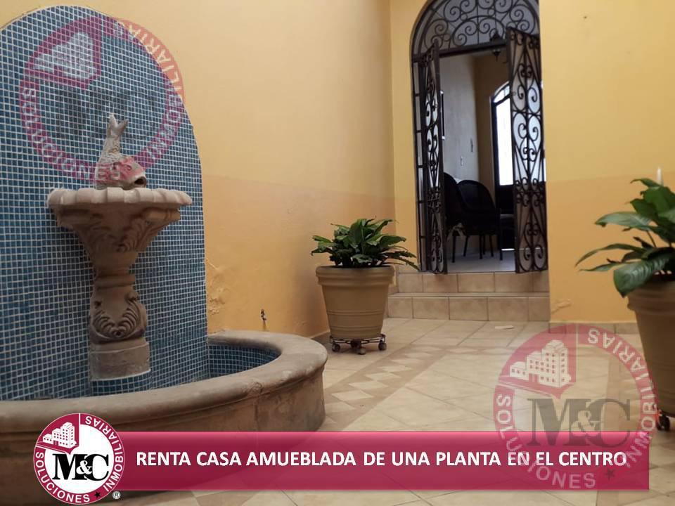 Foto Casa en Renta en  Zona Centro,  Aguascalientes  MC RENTA CASA AMUEBLADA DE UNA PLANTA EN EL CENTRO