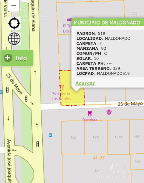 Foto Local en Venta en  Maldonado ,  Maldonado  Avenida Joaquín de Viana y 25 de Mayo