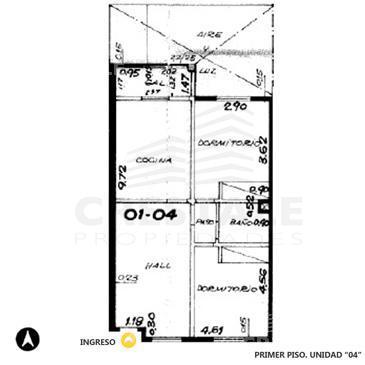 Venta departamento 2 dormitorios Rosario, zona Centro. Cod 3299. Crestale Propiedades