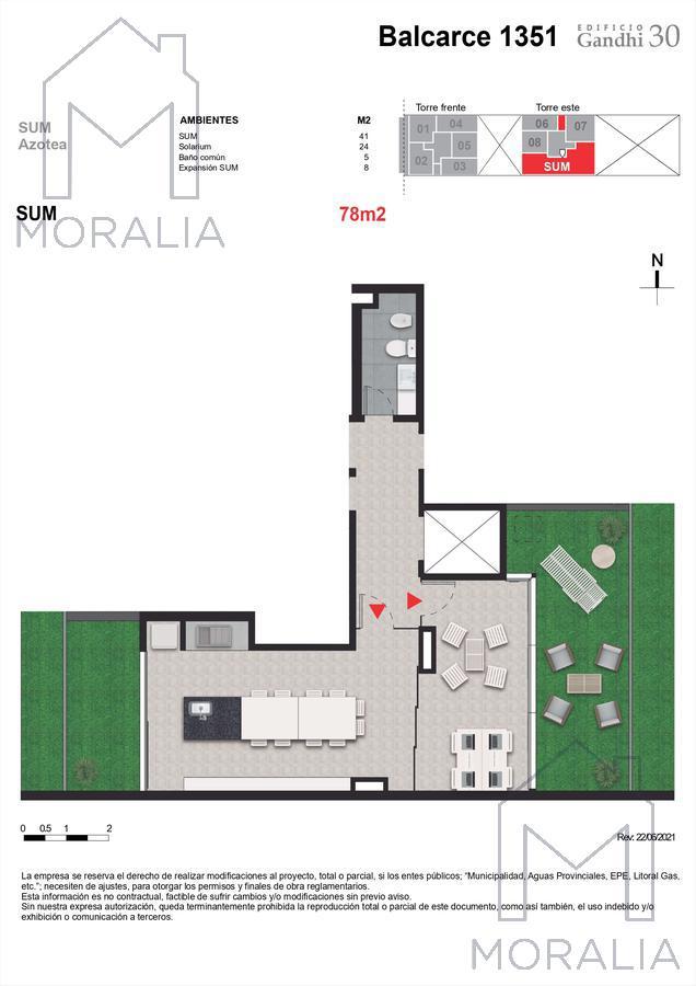Foto Departamento en Venta en  Centro,  Rosario  Balcarce 1351 - 05 - 06 - 1 dormitorio